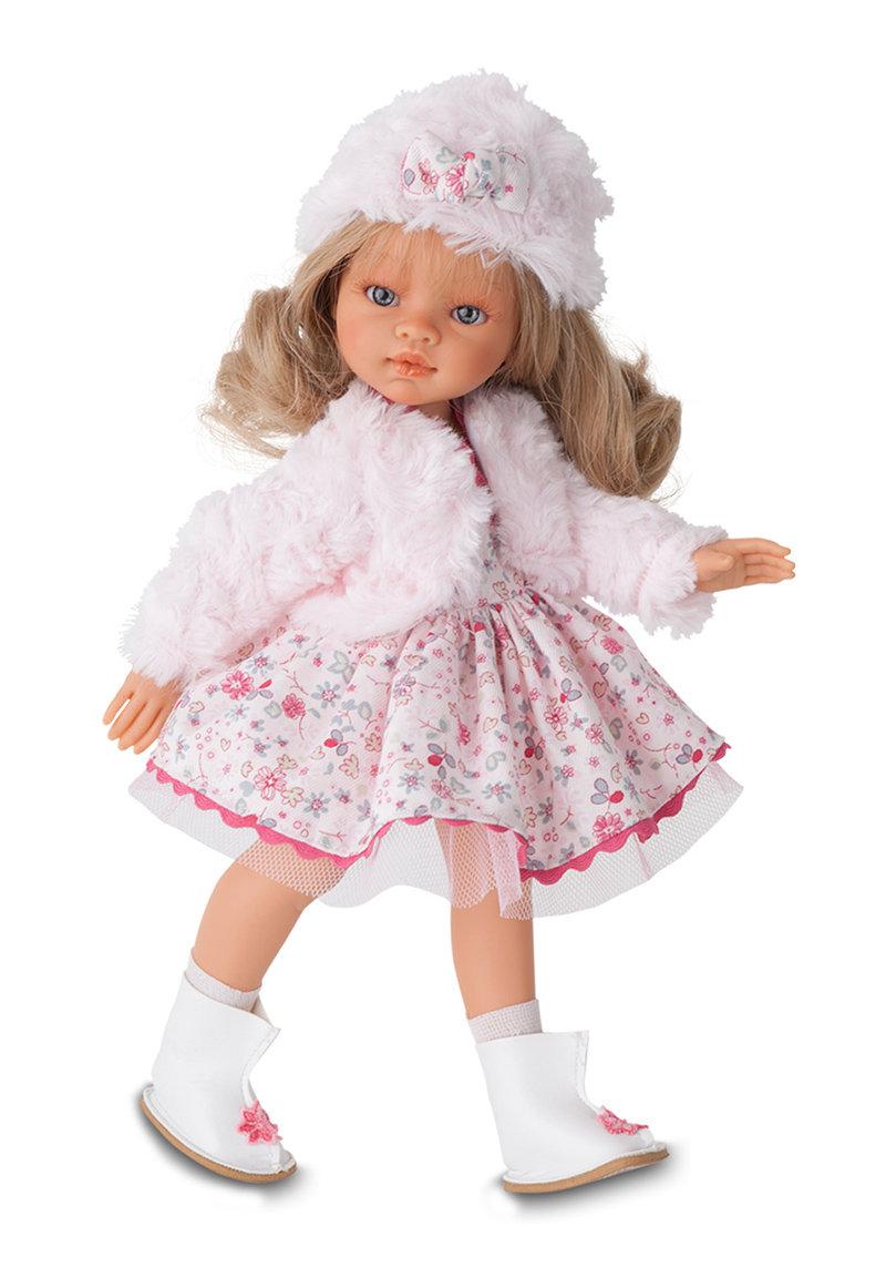 Кукла Эмили зимний образ, блондинка, 33 см.Куклы Антонио Хуан (Antonio Juan Munecas)<br>Кукла Эмили зимний образ, блондинка, 33 см.<br>