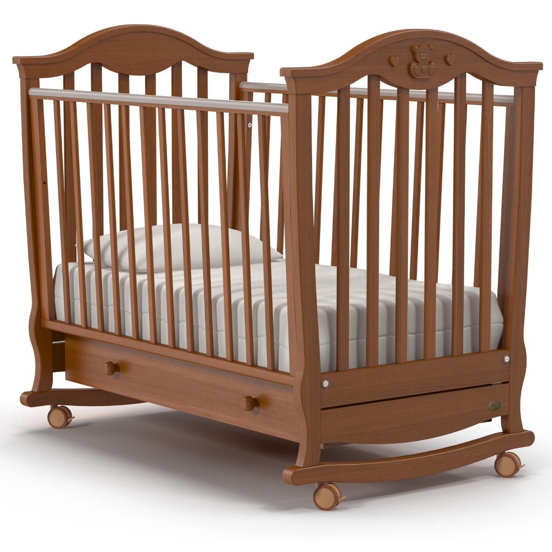 Купить Детская кроватка – Nuovita Sorriso dondolo. Noce scuro/Темный орех