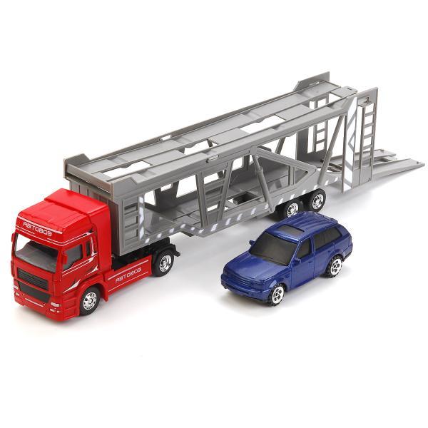Игровой набор Автовоз с машинкой - 32см – инерционный механизмНаборы машинок<br>Игровой набор Автовоз с машинкой - 32см – инерционный механизм<br>