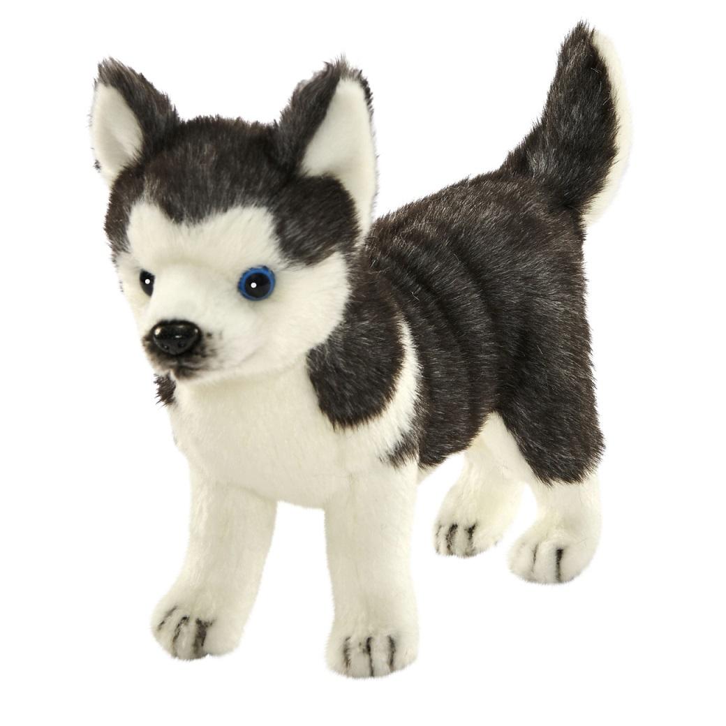 Мягкая игрушка - Щенок Хаски стоящий, 20 см.Собаки<br>Мягкая игрушка - Щенок Хаски стоящий, 20 см.<br>