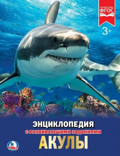 картинка Энциклопедия – Акулы. С развивающими заданиями от магазина Bebikam.ru