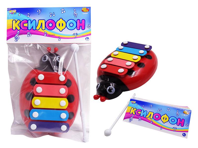 Ксилофон для малышей – Божья коровка, на блистере )Ксилофоны<br>Ксилофон для малышей – Божья коровка, на блистере )<br>