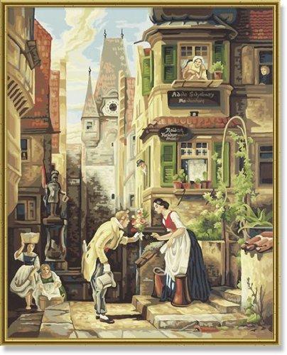 Купить Раскраска по номерам. Репродукция - Вечный жених. Карл Шпицвег, 40 х 50 см, Schipper