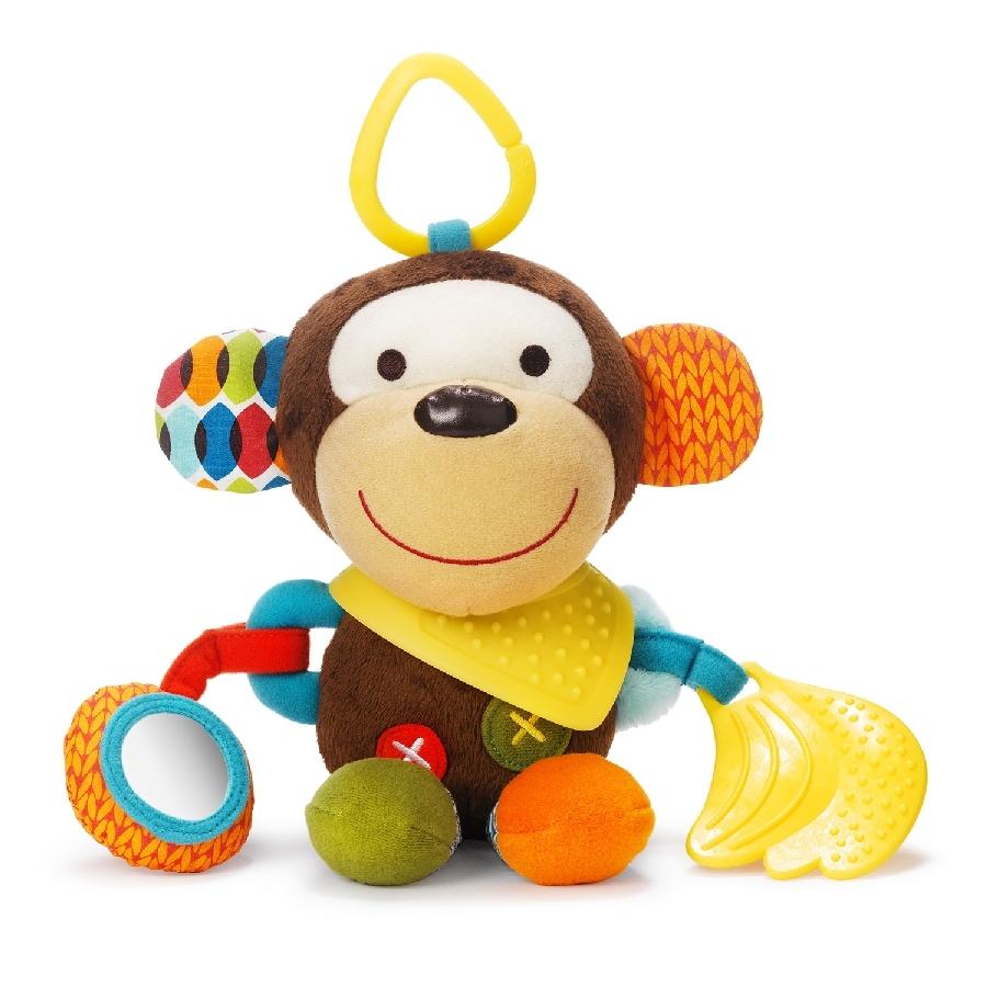 Развивающая игрушка-подвеска Обезьяна с прорезывателем и погремушкойДетские погремушки и подвесные игрушки на кроватку<br>Развивающая игрушка-подвеска Обезьяна с прорезывателем и погремушкой<br>