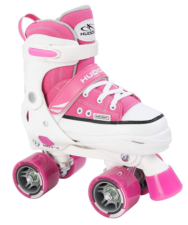 Купить Ролики Roller Skate розовые, размер 32-35, Hudora
