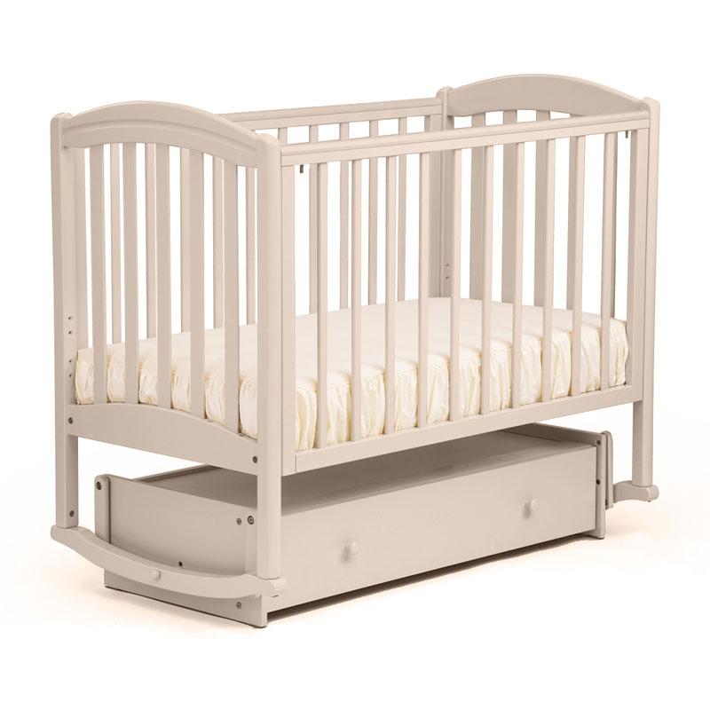 Кровать детская БИ 09.2 Василек маятник поперечный, отбеленный Лель
