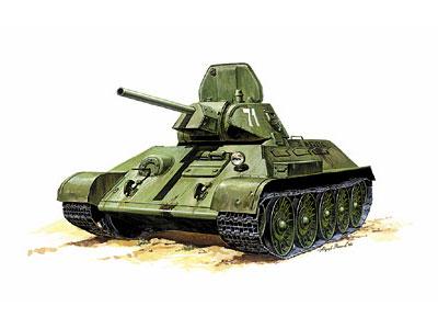 Модель для склеивания - Советский танк Т-34/76Модели танков для склеивания<br>Модель для склеивания - Советский танк Т-34/76<br>