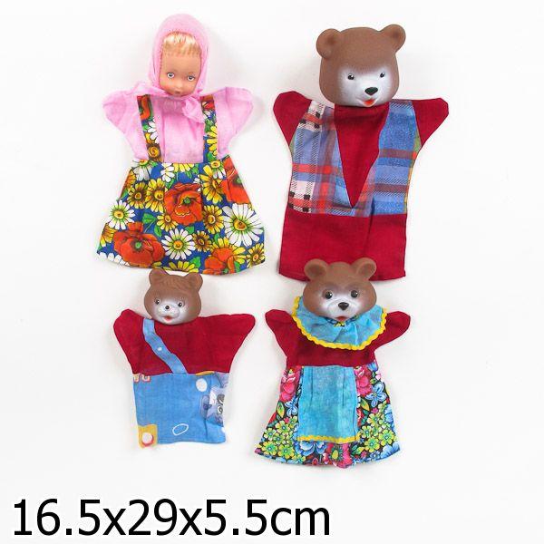 Кукольный театр - Три медведя, 4 персонажаДетский кукольный театр <br>Кукольный театр - Три медведя, 4 персонажа<br>