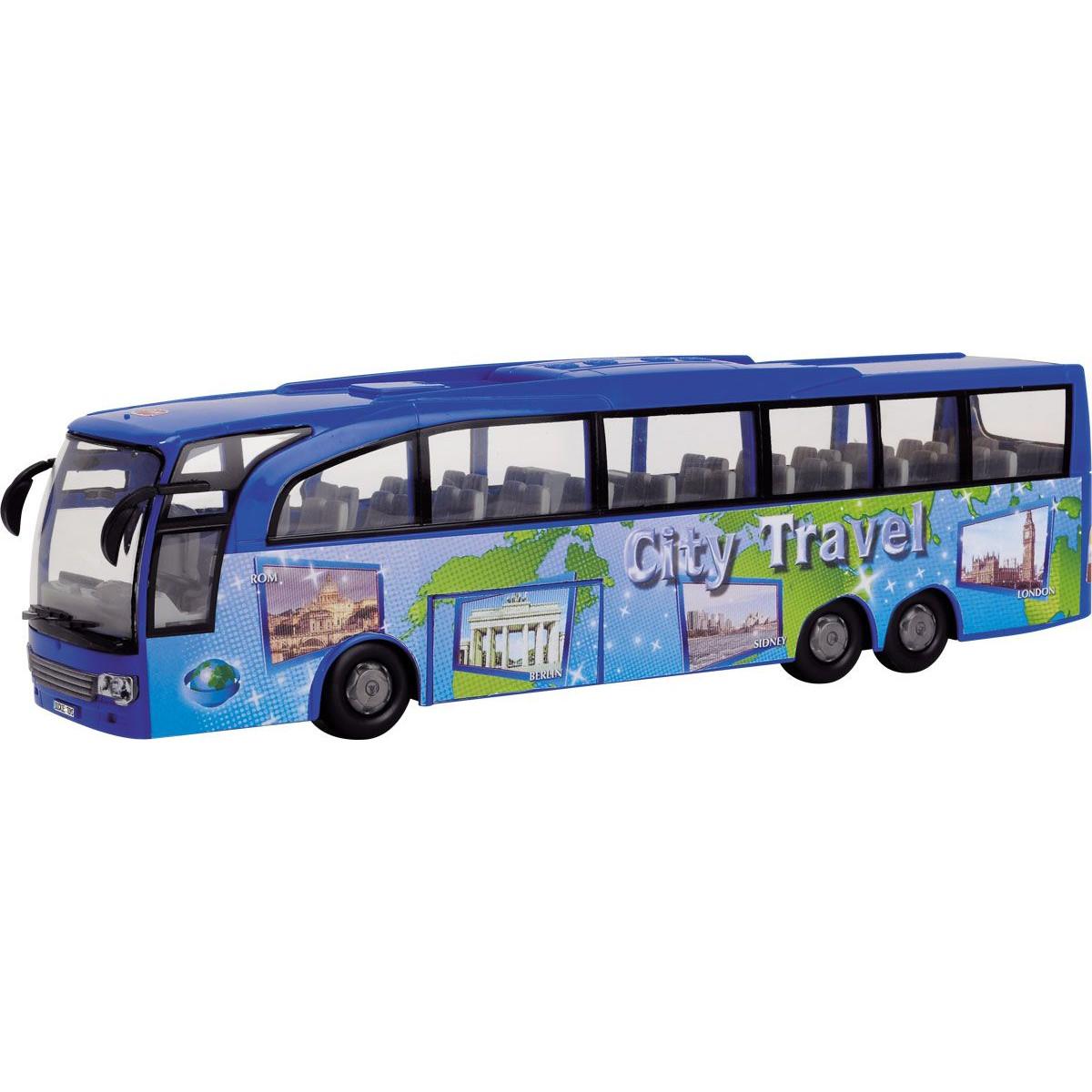 Туристический автобус, фрикционный, 1:43, синий