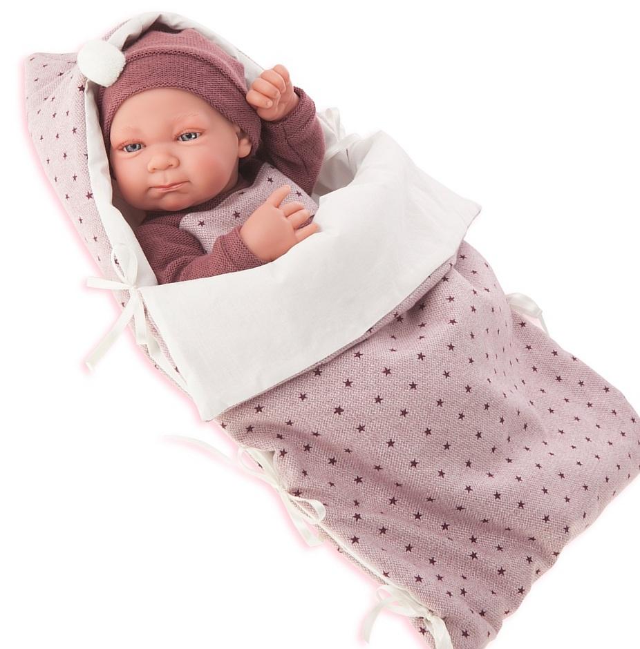 Кукла-младенец Габриэла в фиолетовом, 42 смКуклы Антонио Хуан (Antonio Juan Munecas)<br>Кукла-младенец Габриэла в фиолетовом, 42 см<br>