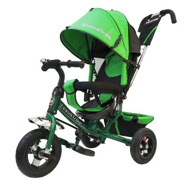 Велосипед 3-колесный Lexus Trike, колеса Eva 10 и 8 , регулируемая спинка, задний тормоз, цвет - зеленыйВелосипеды детские<br>Велосипед 3-колесный Lexus Trike, колеса Eva 10 и 8 , регулируемая спинка, задний тормоз, цвет - зеленый<br>