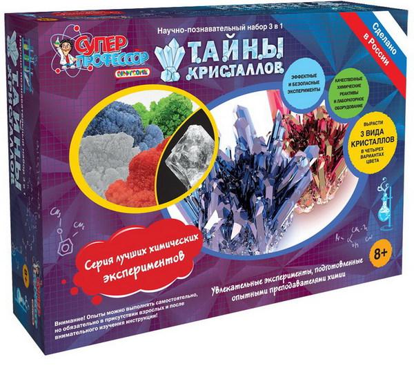 Купить Набор для экспериментов - Тайны Кристаллов, 2 в 1, Научные технологии.