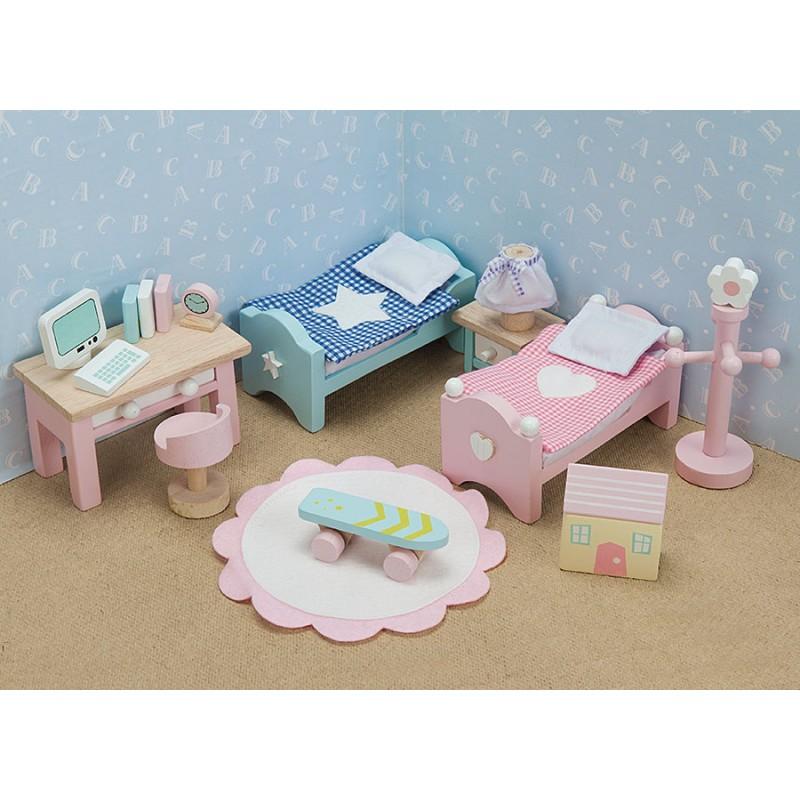 Кукольная мебель Бутон розы Детская, ME061,  Le Toy VanКукольные домики<br>Кукольная мебель Бутон розы Детская, ME061,  Le Toy Van<br>