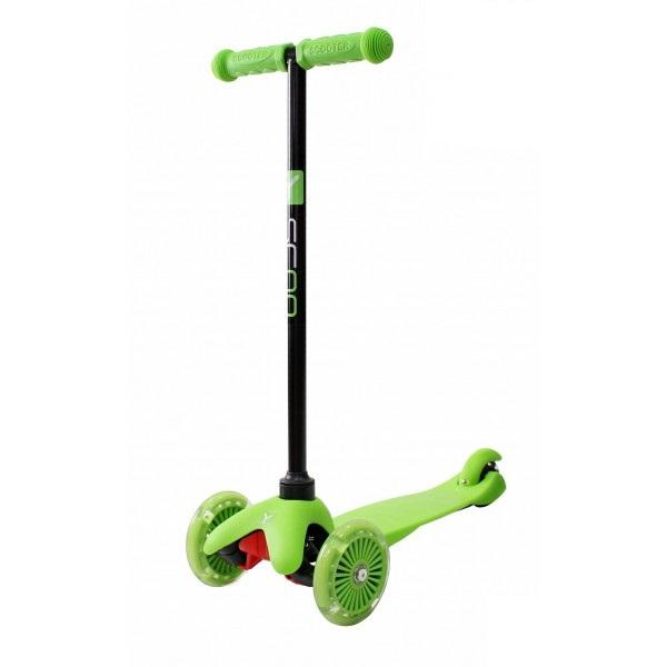 Купить Трехколесный самокат со светящимися колесами RT MINI SHINE A5 green, 4525RT, Y-Scoo