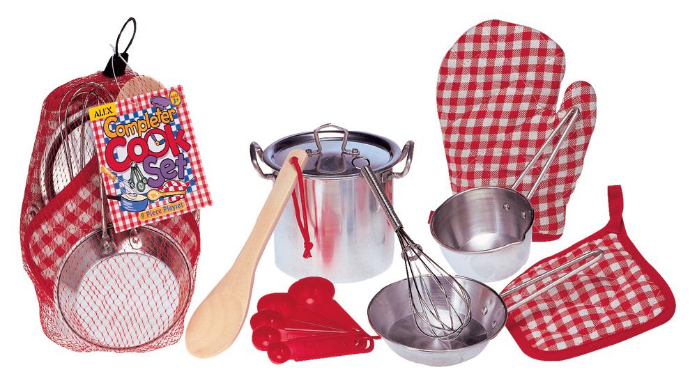 Набор кухонной посуды из нержавеющей стали - Все для повара, 9 предметов, от 3 летАксессуары и техника для детской кухни<br>Набор кухонной посуды из нержавеющей стали - Все для повара, 9 предметов, от 3 лет<br>