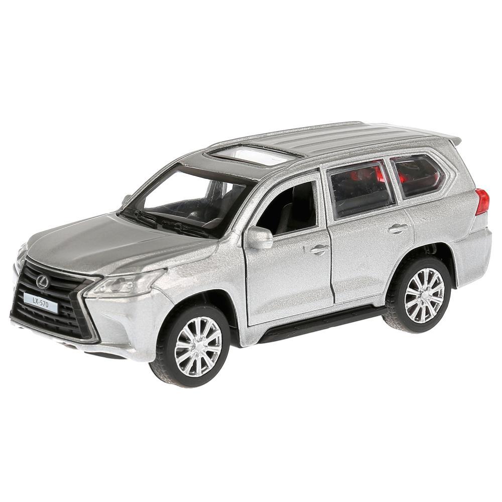 Купить Машина металлическая Lexus LX-570, длина 12 см., открываются двери и багажник, инерционная, серебристая, Технопарк