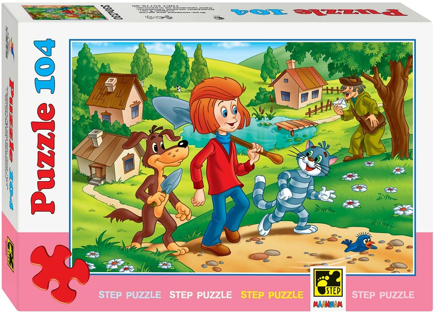 Купить Пазл Простоквашино, 104 элементов, Step Puzzle