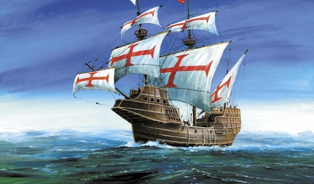 Модель для склеивания - Корабль конкистадоров Сан ГабриэльМодели кораблей для склеивания<br>Модель для склеивания - Корабль конкистадоров Сан Габриэль<br>