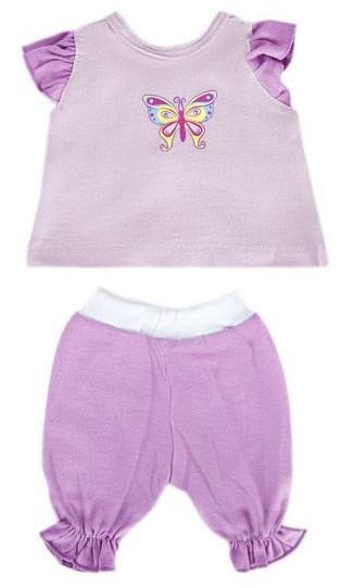 Набор одежды для куклы 38-43см, кофточка и брючки, БабочкаОдежда для кукол<br>Набор одежды для куклы 38-43см, кофточка и брючки, Бабочка<br>