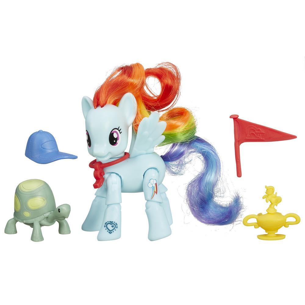 Мини-набор Пони с артикуляцией из серии My Little Pony - Рейнбоу ДэшМоя маленькая пони (My Little Pony)<br>Мини-набор Пони с артикуляцией из серии My Little Pony - Рейнбоу Дэш<br>