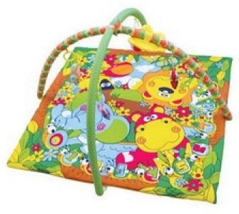 Детский игровой коврик с погремушками на подвеске в сумкеДетские развивающие коврики для новорожденных<br>Детский игровой коврик с погремушками на подвеске в сумке<br>