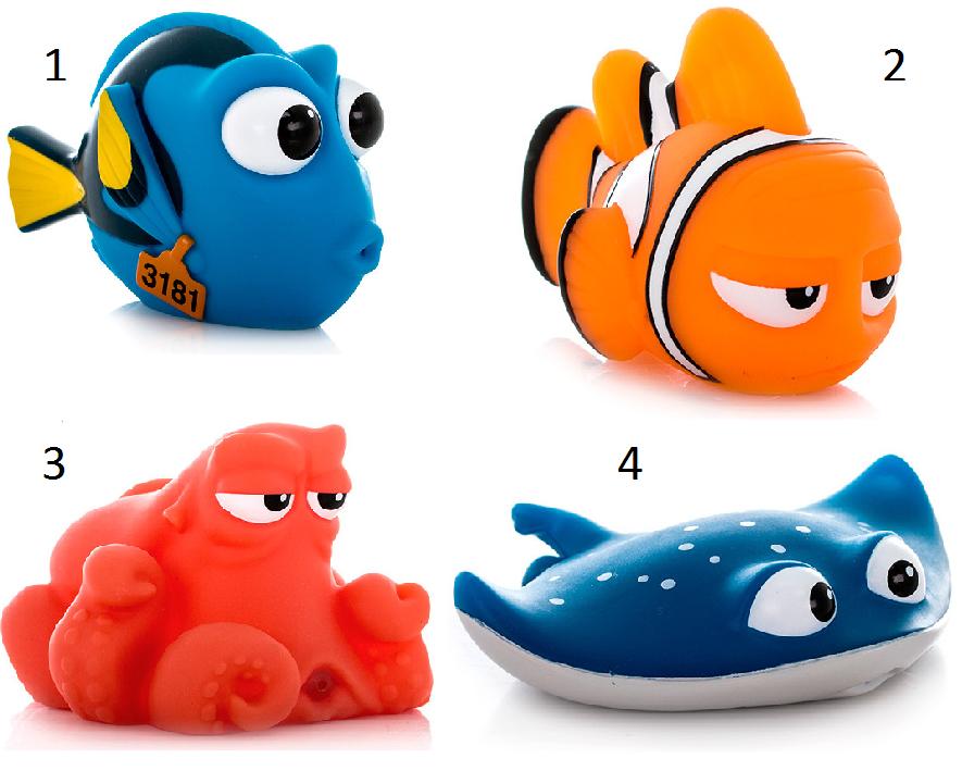 Подводный обитатель-брызгалка из серии «В поисках Дори», 7-10 см.Игрушки для ванной<br>Подводный обитатель-брызгалка из серии «В поисках Дори», 7-10 см.<br>