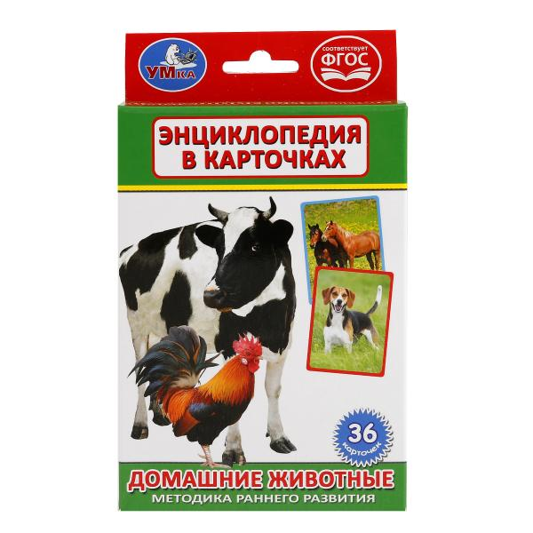 Купить Карточки развивающие – Домашние животные, 36 карточек, Умка