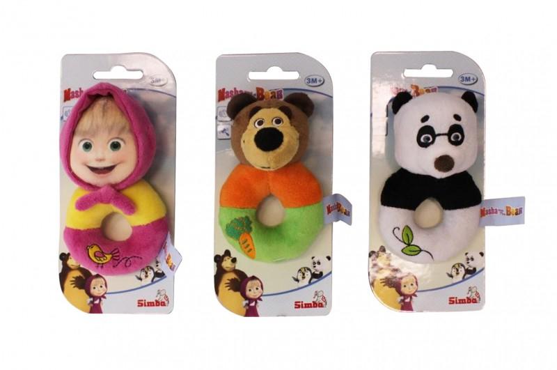 Погремушка плюшевая «Маша и Медведь», 3 видаДетские погремушки и подвесные игрушки на кроватку<br>Погремушка плюшевая «Маша и Медведь», 3 вида<br>