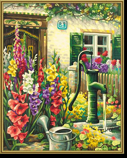 Картина Цветник у дома, 40х50смРаскраски по номерам Schipper<br>Картина Цветник у дома, 40х50см<br>