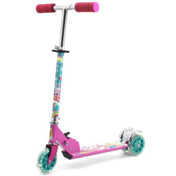 Самокат 3-х колесный складной - Barbie