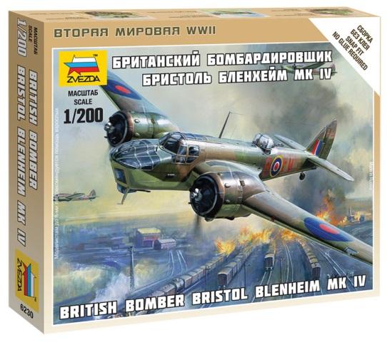 Модель сборная - Британский бомбардировщик Бристоль Бленхейм MK-IVМодели самолетов для склеивания<br>Модель сборная - Британский бомбардировщик Бристоль Бленхейм MK-IV<br>