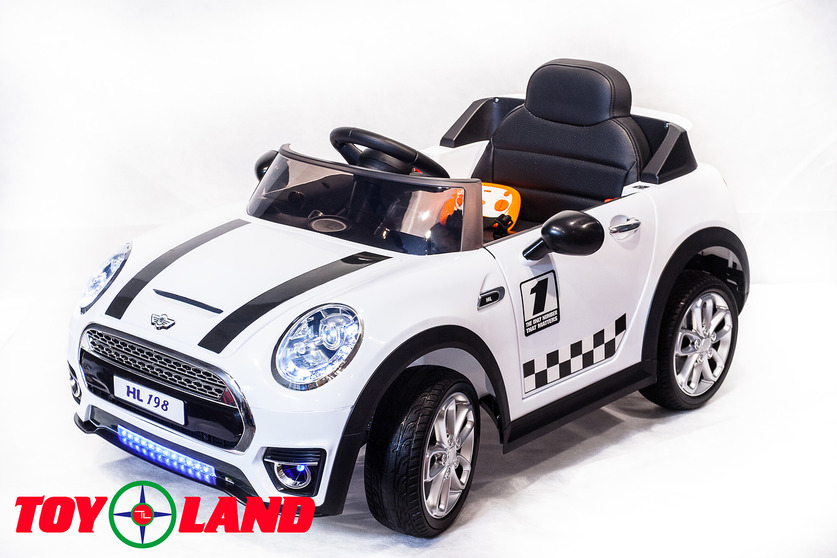 Электромобиль Mini Cooper белыйЭлектромобили, детские машины на аккумуляторе<br>Электромобиль Mini Cooper белый<br>
