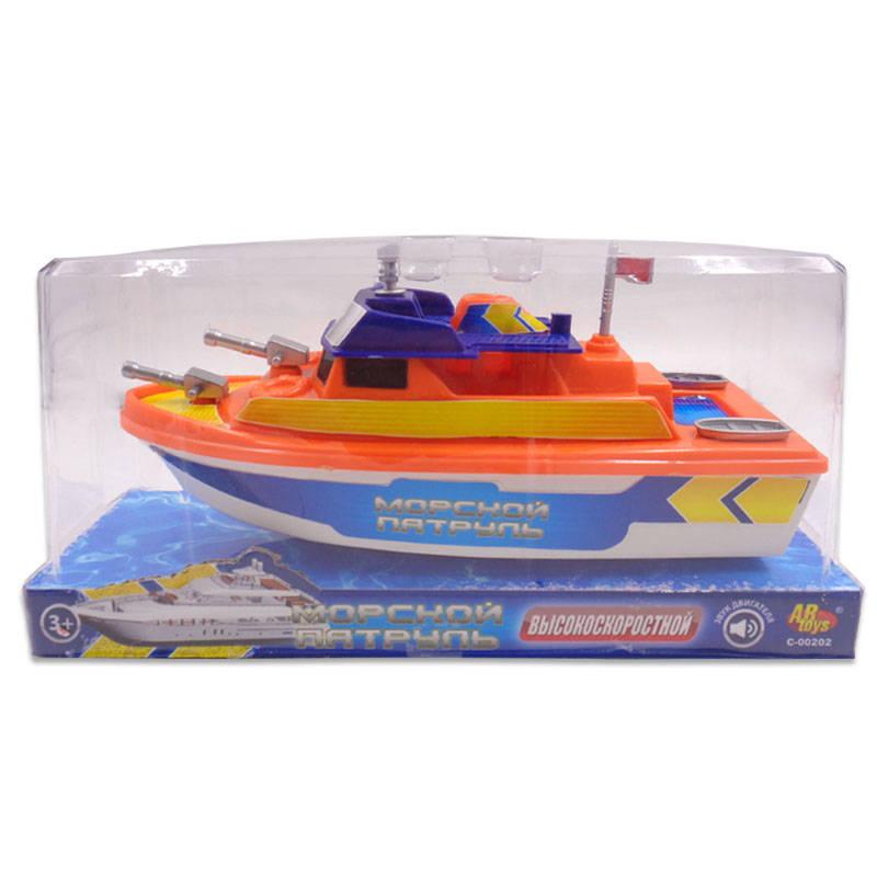 Катер - Морской патруль, электромеханический, 2 видаКорабли и катера в ванну<br>Катер - Морской патруль, электромеханический, 2 вида<br>