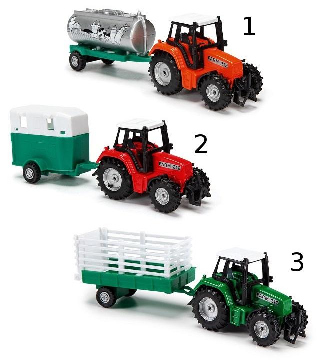 Трактор с прицепом, 3 видаИгрушечные тракторы<br>Трактор с прицепом, 3 вида<br>