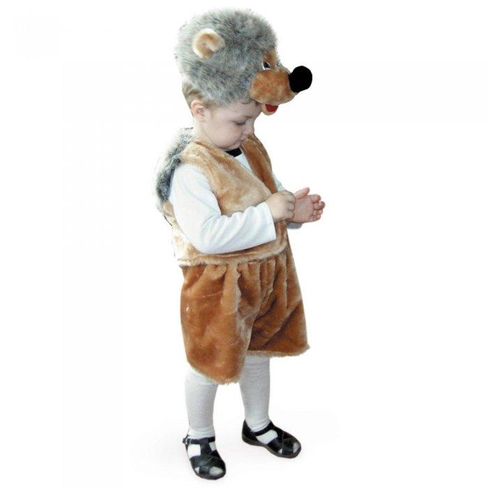 Костюм карнавальный детский - Ежик из меха, размер 28 детский