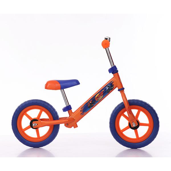 Беговел - Вспыш, EVA колеса 12, AK-тип, оранжево-синийБеговелы<br>Беговел - Вспыш, EVA колеса 12, AK-тип, оранжево-синий<br>
