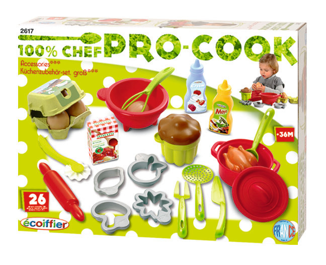 Набор посудки с продуктами - Аксессуары и техника для детской кухни, артикул: 17992