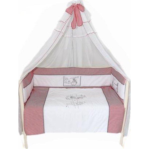 Комплект в кроватку - Красная шапочка, 7 предметовДетское постельное белье<br>Комплект в кроватку - Красная шапочка, 7 предметов<br>