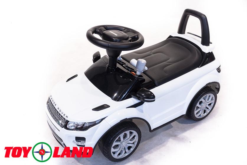 Машинка-каталка – Range Rover Evoque, белый, звукМашинки-каталки для детей<br>Машинка-каталка – Range Rover Evoque, белый, звук<br>