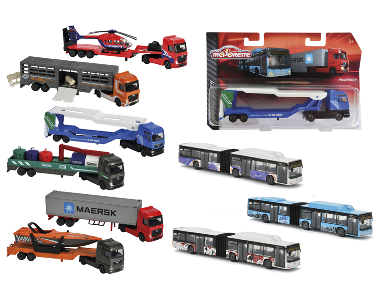 Машинка-транспортер, 20 см., 9 видовАвтобусы, трамваи<br>Машинка-транспортер, 20 см., 9 видов<br>