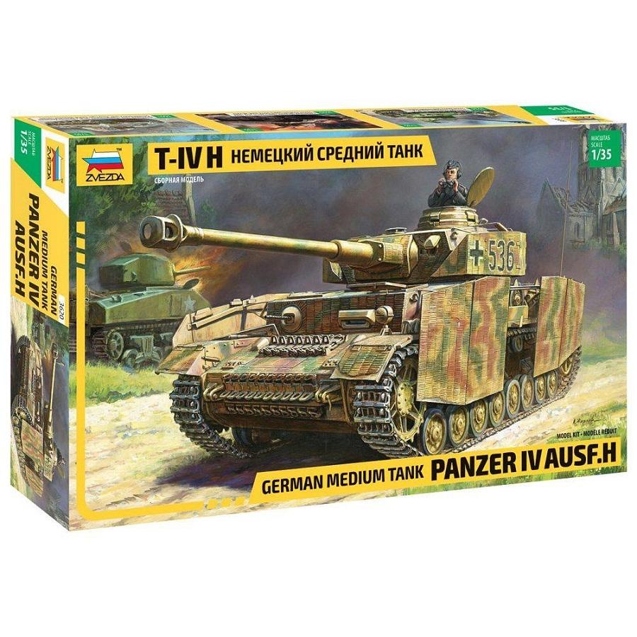 Модель сборная - Немецкий средний танк T-IV HМодели танков для склеивания<br>Модель сборная - Немецкий средний танк T-IV H<br>