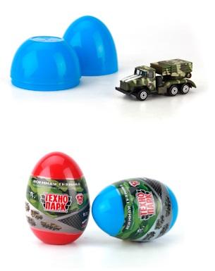 Металлическая военная техника 7,5 см, в яйцеВоенная техника<br>Металлическая военная техника 7,5 см, в яйце<br>