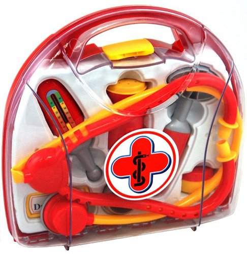 Набор доктора в прозрачном кейсе, 7 предметов - Наборы доктора детские, артикул: 160162
