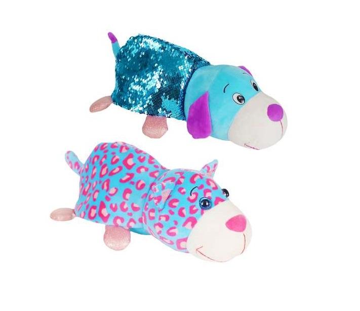 Купить Плюшевая игрушка из серии Вывернушка Блеск с пайетками 2в1 Котик-Щенок, 30 см., 1TOY