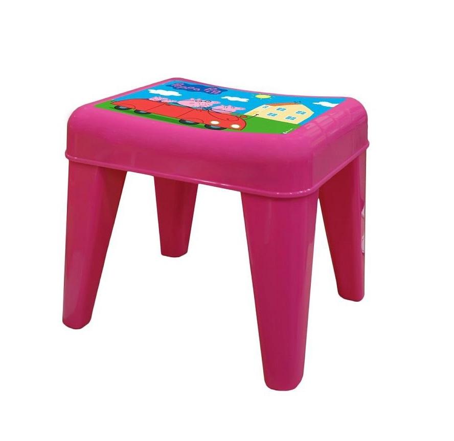 Детский табурет - Я расту - Свинка Пеппа, розовыйИгровые столы и стулья<br>Детский табурет - Я расту - Свинка Пеппа, розовый<br>