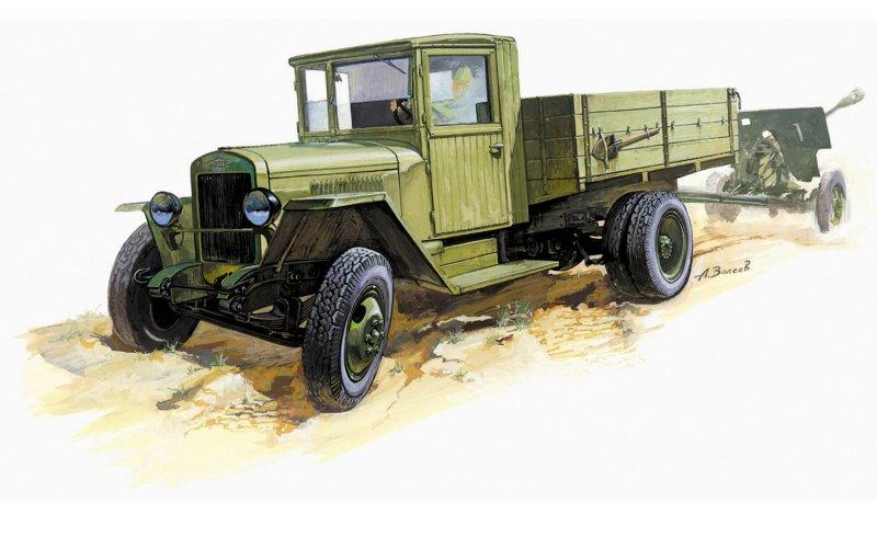 Модель сборная - Грузовик ЗиС-5Модели автомобилей для склеивания<br>Модель сборная - Грузовик ЗиС-5<br>