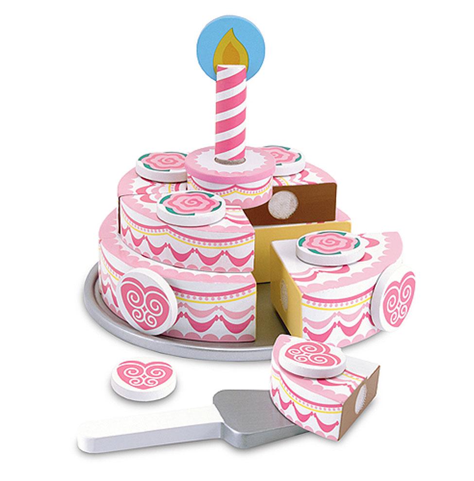 Деревянный набор - Именинный пирогАксессуары и техника для детской кухни<br>Деревянный набор - Именинный пирог<br>