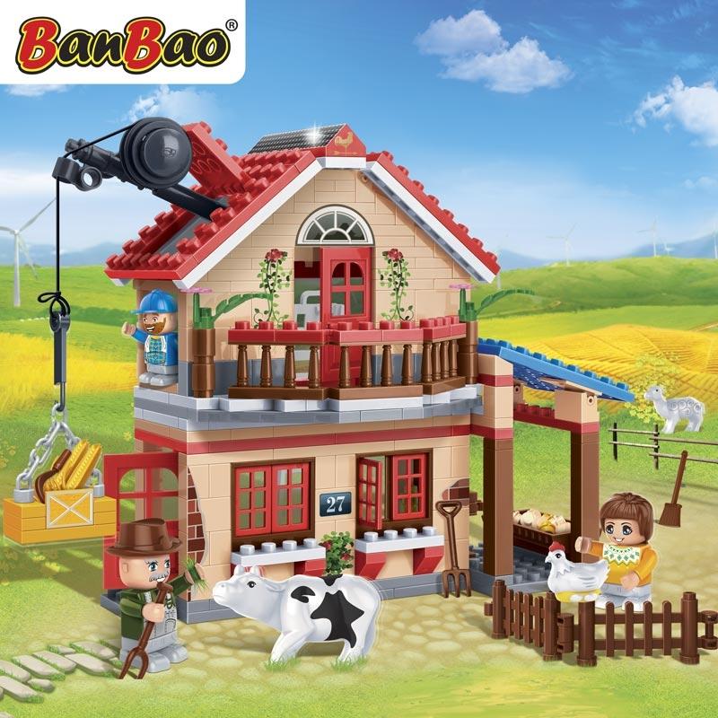 Конструктор - Фермерский домик, 315 деталейКонструкторы BANBAO<br>Конструктор - Фермерский домик, 315 деталей<br>