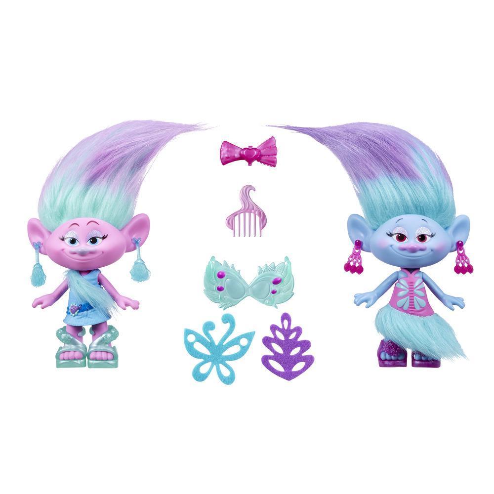 Коллекционные фигурки Trolls - Модные близнецыТролли игрушки<br>Коллекционные фигурки Trolls - Модные близнецы<br>