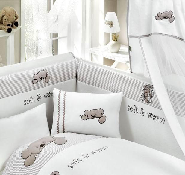 Комплект постельного белья из 3 предметов серия Teddy BoboДетское постельное белье<br>Комплект постельного белья из 3 предметов серия Teddy Bobo<br>